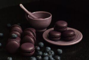 Macarons myrtille